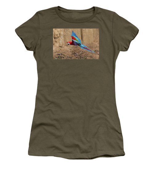 Red-and-green Macaw Women's T-Shirt (Athletic Fit)
