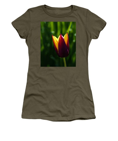 Red And Yellow Tulip Women's T-Shirt (Athletic Fit)