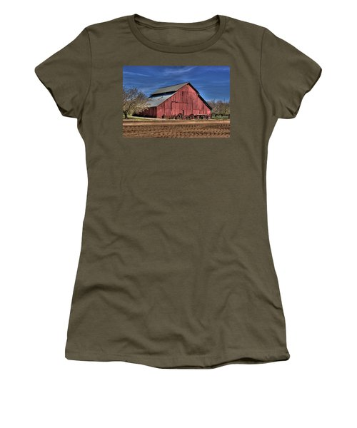 Women's T-Shirt (Junior Cut) featuring the photograph Red Barn by Jim and Emily Bush