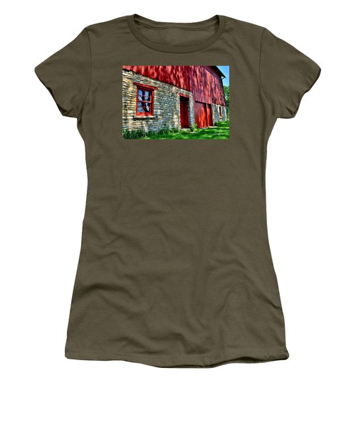 Red Barn In The Shade Women's T-Shirt