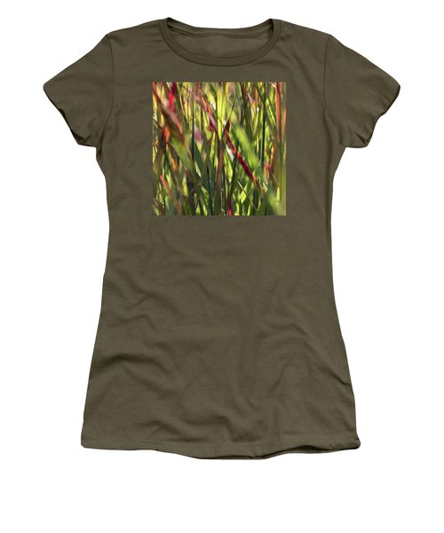 Red Blades Among The Green Women's T-Shirt (Athletic Fit)