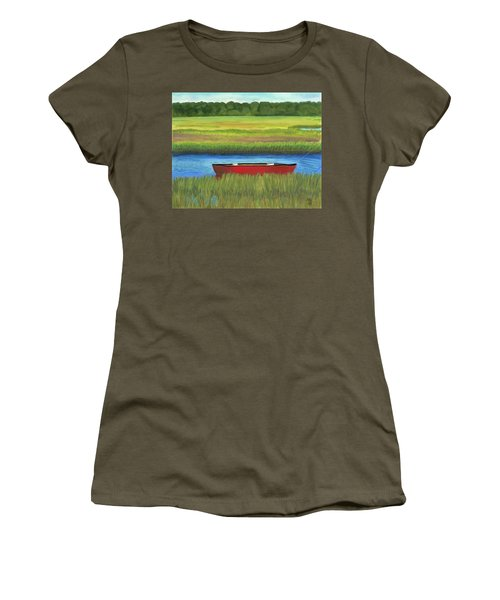 Red Boat - Assateague Channel Women's T-Shirt (Athletic Fit)