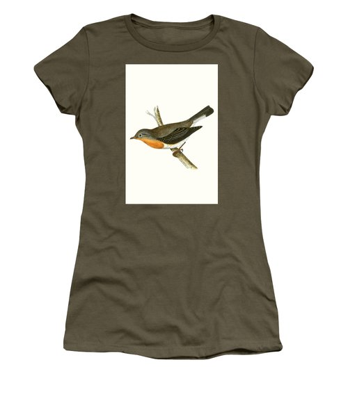 Red Breasted Flycatcher Women's T-Shirt (Athletic Fit)
