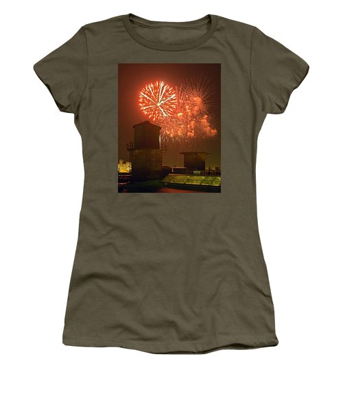 Red Fireworks Women's T-Shirt