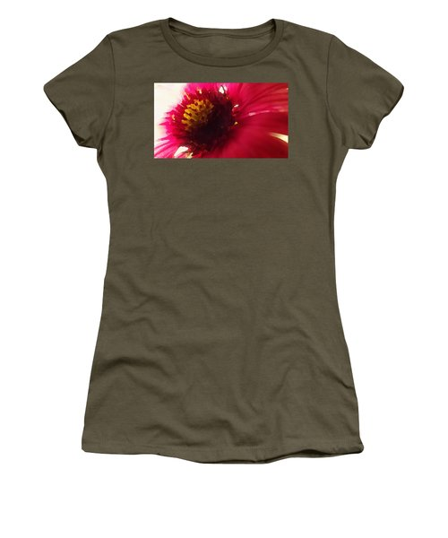 Red Flower Abstract Women's T-Shirt