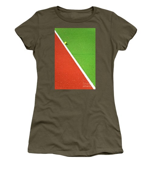 Red Green White Line And Tennis Ball Women's T-Shirt (Junior Cut)