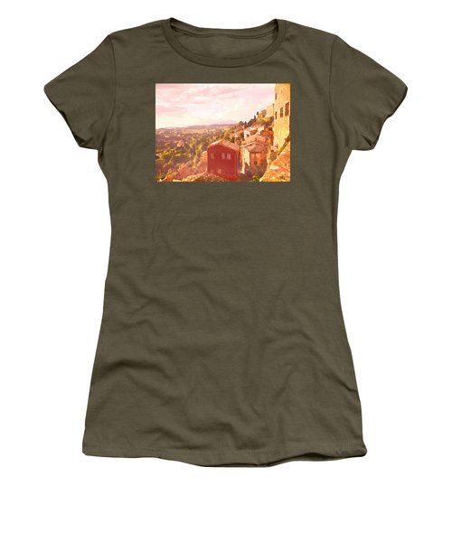 Red House On A Hill Women's T-Shirt
