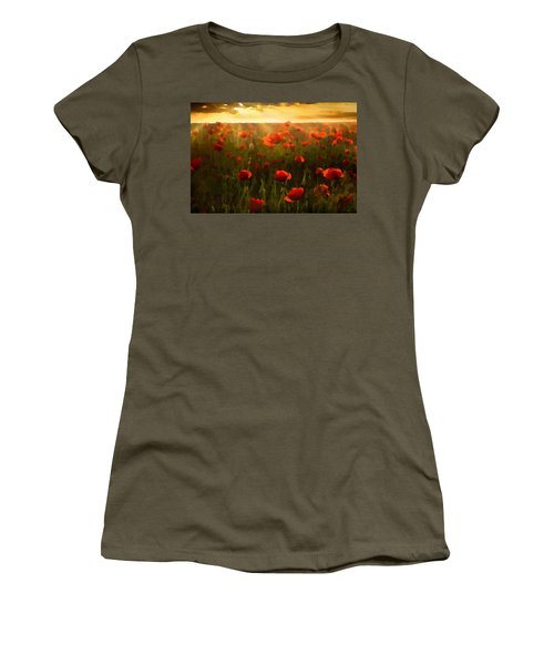 Red Poppies In The Sun Women's T-Shirt