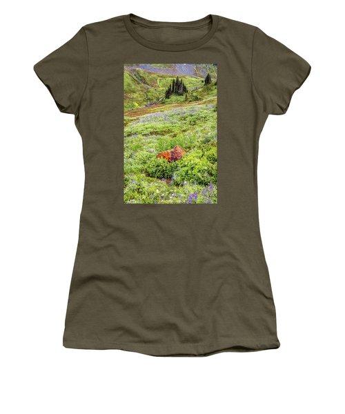 Red Rock Of Rainier Women's T-Shirt