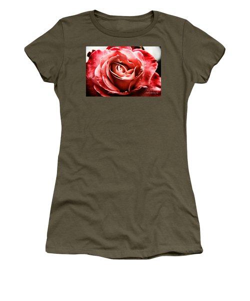 Red Rose  Women's T-Shirt (Junior Cut) by Mariola Bitner