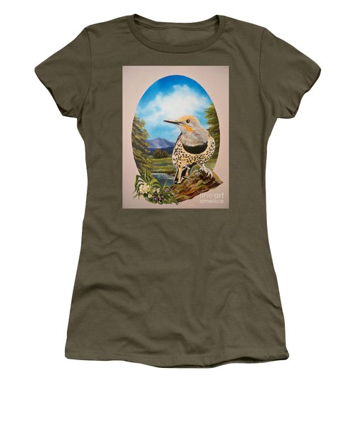 Flying Lamb Productions                       Red Shafted Flicker Women's T-Shirt