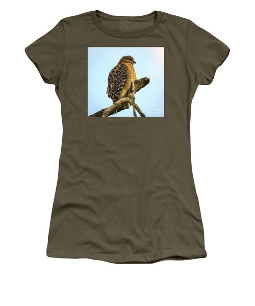 Red-shouldered Hawk - Buteo Lineatus Women's T-Shirt (Athletic Fit)