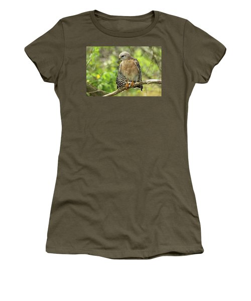 Red-shouldered Hawk Women's T-Shirt (Athletic Fit)