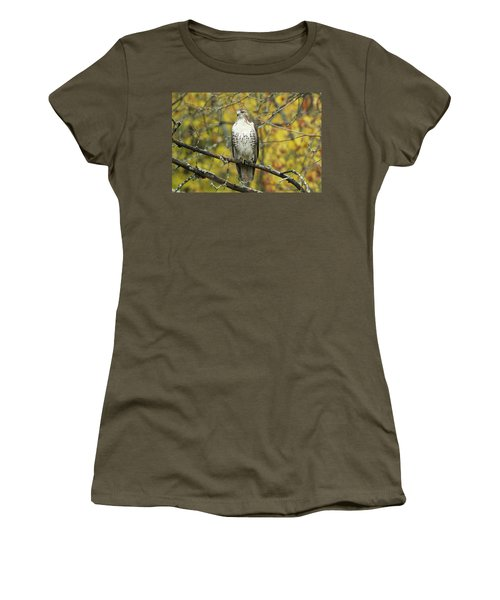 Red Tail Hawk 9887 Women's T-Shirt (Junior Cut) by Michael Peychich