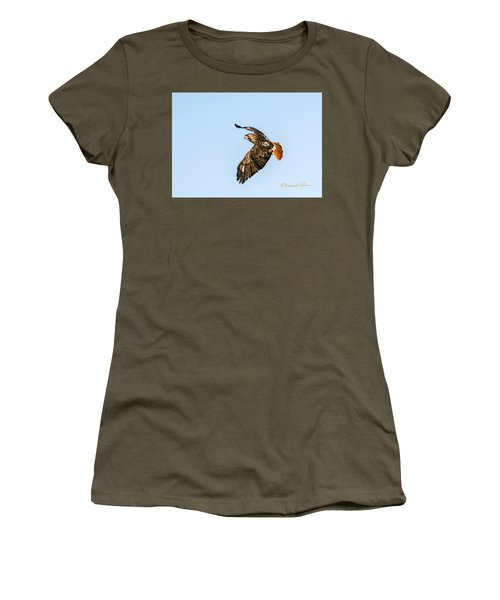Red-tail Hawk In Flight Women's T-Shirt