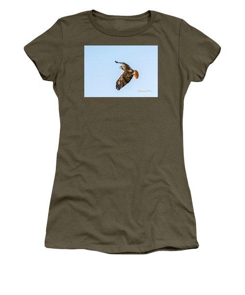 Red-tail Hawk In Flight Women's T-Shirt