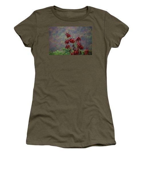 Red Tree In The Rain Women's T-Shirt