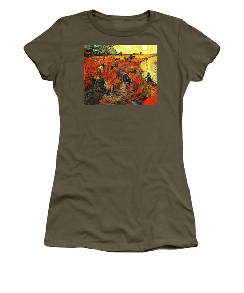 Red Vineyard Women's T-Shirt (Athletic Fit)