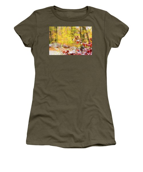 Red, White, Yellow Women's T-Shirt (Athletic Fit)