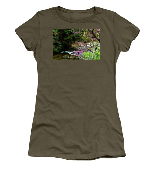 Redbud And River Women's T-Shirt