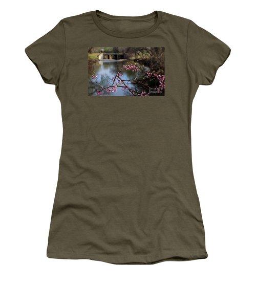 Redbuds And An Old Bridge Women's T-Shirt