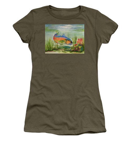 Rainbow Fish Women's T-Shirt (Athletic Fit)