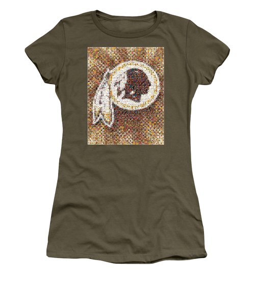 Redskins Mosaic Women's T-Shirt (Athletic Fit)