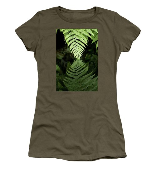 Reflected Ferns Women's T-Shirt (Athletic Fit)