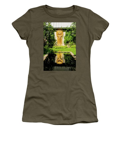 Women's T-Shirt (Junior Cut) featuring the photograph Reflecting Art by Greg Fortier