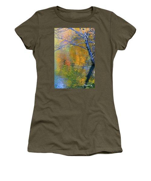 Reflecting Autumn Women's T-Shirt (Junior Cut) by Mariarosa Rockefeller