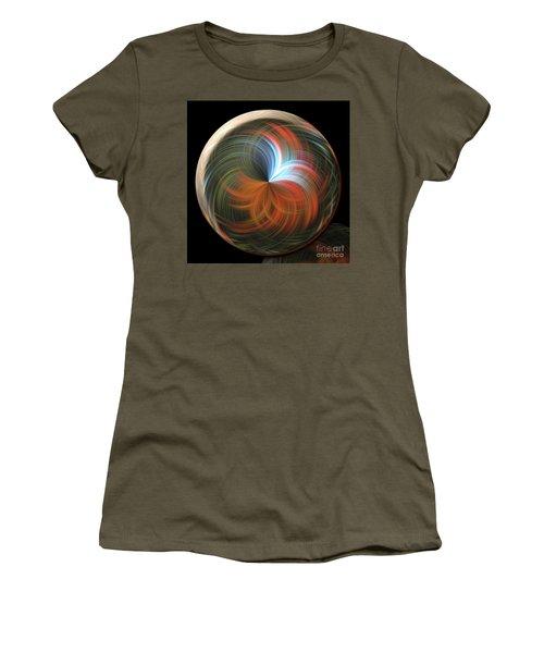 Reflecting Orb Women's T-Shirt (Junior Cut) by Judy Wolinsky