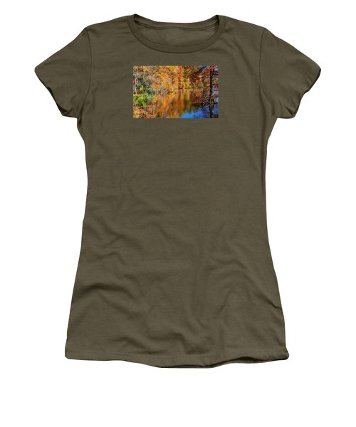 Reflected Fall Foliage Women's T-Shirt (Junior Cut) by Allan Levin
