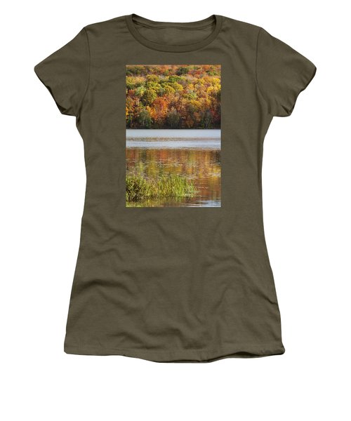 Reflection Of Autumn Colors In A Lake Women's T-Shirt (Athletic Fit)