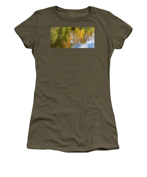 Reflection Of Fall #1, Abstract Women's T-Shirt (Athletic Fit)