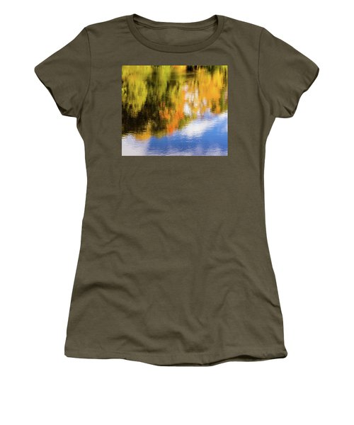 Reflection Of Fall #2, Abstract Women's T-Shirt (Athletic Fit)