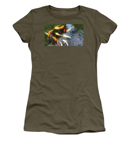 Reflections And Fish 5 Women's T-Shirt (Junior Cut) by Isabella F Abbie Shores FRSA