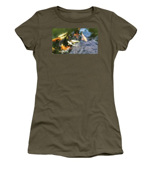 Reflections And Fish 6 Women's T-Shirt (Junior Cut) by Isabella F Abbie Shores FRSA