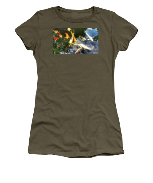 Reflections And Fish 7 Women's T-Shirt (Junior Cut) by Isabella F Abbie Shores FRSA