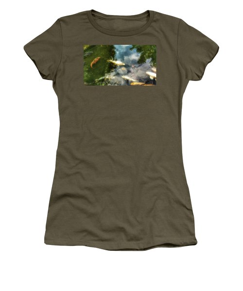 Reflections And Fish  Women's T-Shirt (Junior Cut) by Isabella F Abbie Shores FRSA