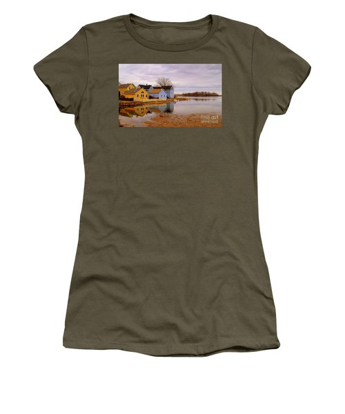Reflections In The Harbor Women's T-Shirt (Athletic Fit)