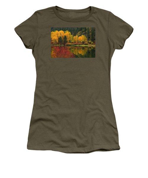 Reflections Of Fall Beauty Women's T-Shirt (Junior Cut) by Lynn Hopwood