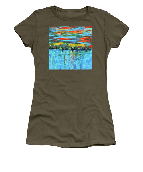 Reflections Sky And Landscape Abstract Women's T-Shirt (Athletic Fit)