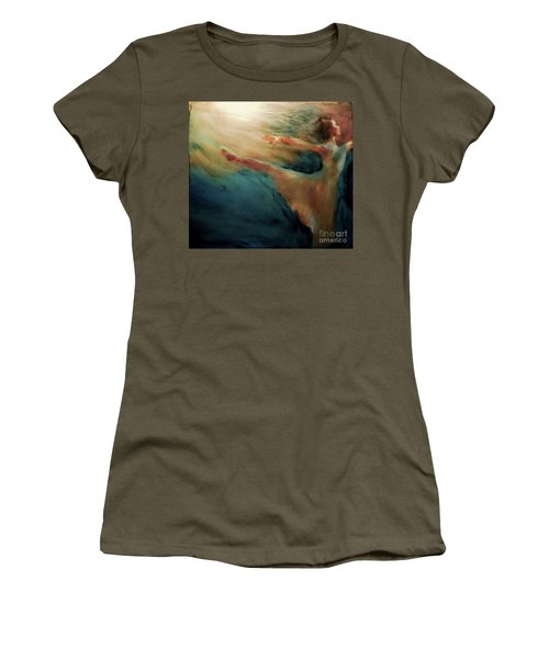 Women's T-Shirt (Junior Cut) featuring the painting Releasing Of The Soul by FeatherStone Studio Julie A Miller