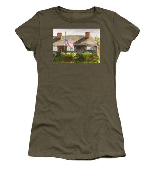 Women's T-Shirt (Junior Cut) featuring the painting Remembering Patriot Day by John Williams
