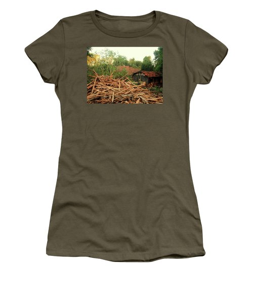Women's T-Shirt (Junior Cut) featuring the photograph Remnants by Beto Machado