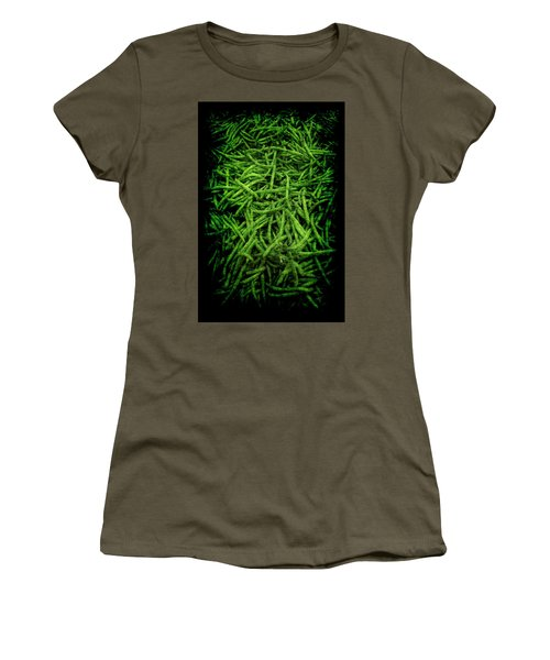 Women's T-Shirt (Athletic Fit) featuring the photograph Renaissance Green Beans by Jennifer Wright