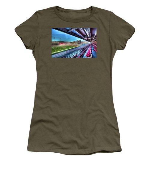 Renovated Martin Stadium Women's T-Shirt (Junior Cut) by David Patterson