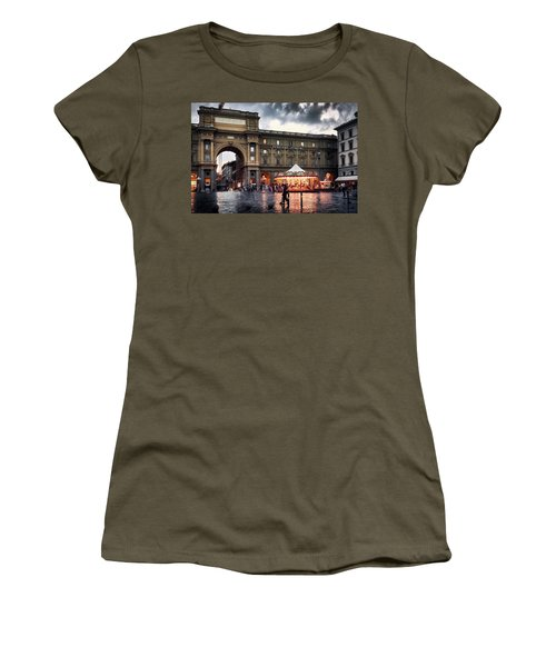 Republic Square In The City Of Florence Women's T-Shirt