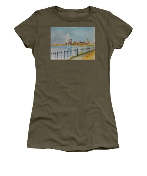 Reservoir In Central Park Women's T-Shirt
