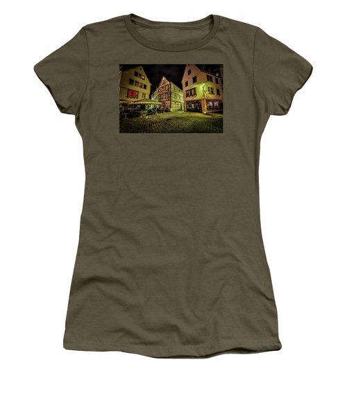 Women's T-Shirt (Junior Cut) featuring the photograph Restaurante Roseneck by David Morefield